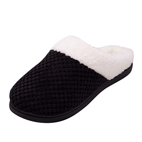 Review Eimvano Womens Slipper Memory Foam Fluffy Soft Warm Slip On House Anti-Skid Cozy Plush for In...