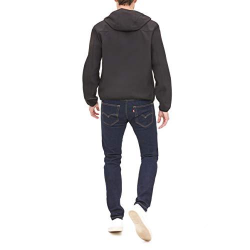 Tommy Hilfiger Men's Hooded Performance Soft Shell Jacket, black, Large