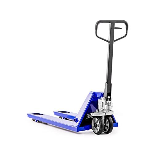 Transpallet Transpallet Transpallet manuale 2500 kg Capacità di sollevamento 2,5t / 1150 mm lunghezza della forcella - pneumatici in gomma, blu