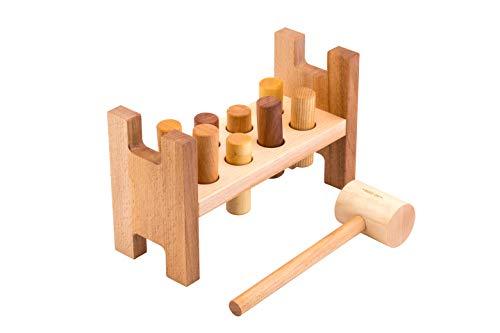Baby Knock Game Spielzeug Kleinkind Stampfen Bank Holzspielzeug Kinder Fr/ühe P/ädagogische Lernen H/ämmern /& Stampfen Ball Spielzeug