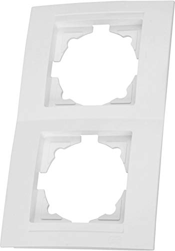 Rahmen 2-fach senkrecht (Serie M1 reinweiß)