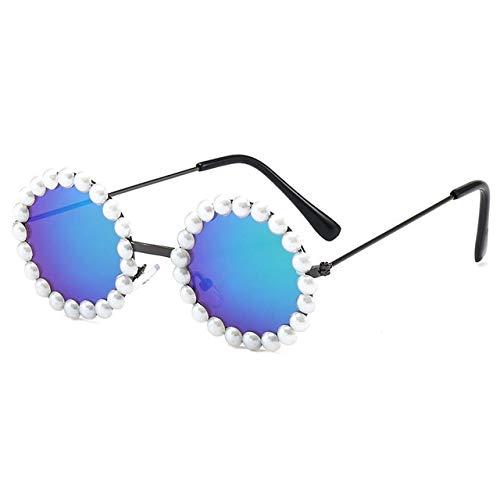XMYNB Gafas de Sol Gafas De Sol Redondas para Niños Retro Boys Girls Metal Marco Gafas De Sol Uv400 Lindo Bebé Gafas