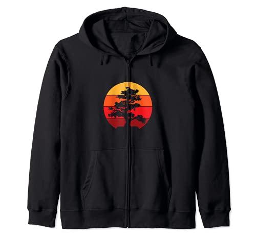 Pacific Ocean Beach Bonsai Baum Sonne Retro Vintage T-Shirt Kapuzenjacke