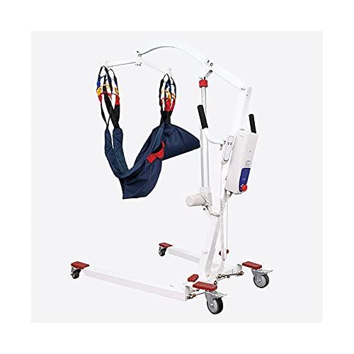 QSMGRBGZ Silla baño Inodoro Ancianos,Montacargas Paciente Electrónico con Cinturón Paciente, Ajustable De Acero De Múltiples Funciones De Carbono para Sillas De Ruedas, De Carga 135Kg,Half Pack