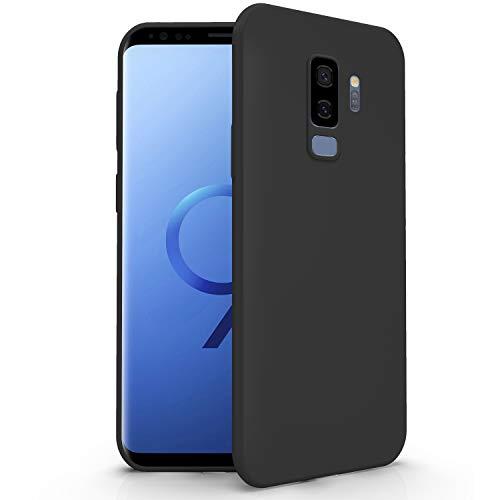 N NEWTOP Cover Compatibile per Samsung Galaxy S9 Plus, Custodia TPU Soft Gel Silicone Ultra Slim Sottile Flessibile Case Posteriore Protettiva (Nero)