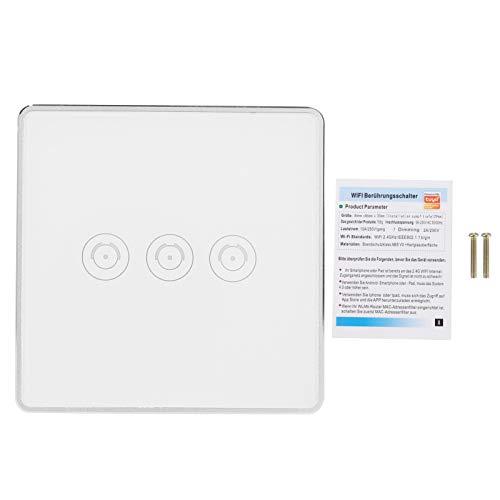 Vcriczk Interruptor WiFi, Interruptor Inteligente Interruptor de Control Remoto Interruptor de Control de aplicación Duradero para Alexa y Google Home Voice Control