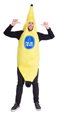 Folat- Tuta a Banana Schiuma Adulti, Colore Gelb, Taglia Unica, 21950