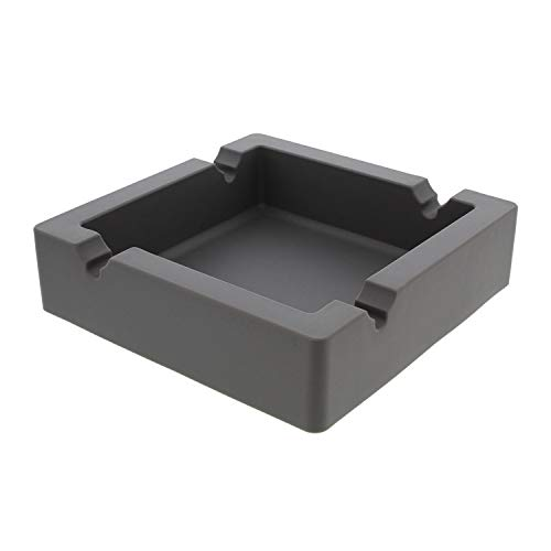 7Penn Large Silicone Ashtray for Cigars Cigarette Ashtray Outdoor Ashtray, Ash Tray Outdoors and Indoors – Gray