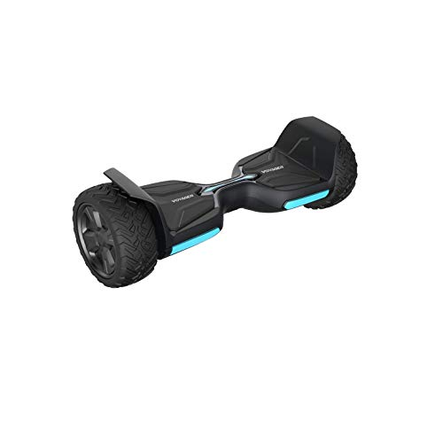 VOYAGER Hoverboard Air Wheel Offroad Electric Hoverboard, Rugged 8.5 Inch All Terrain Wheels, 8.7 Miles Per Charge, 9 MPH, 220 lb Load, Bluetooth App, LED Light, Water Resistant, Boys Girls, (Black)