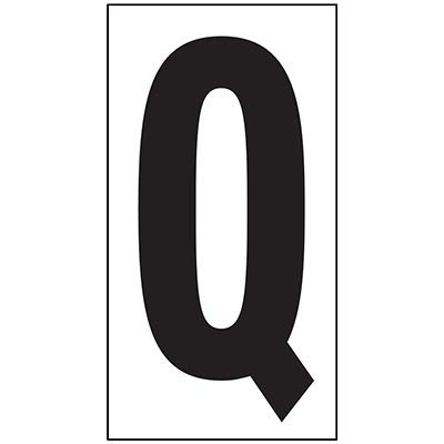 "REPETITIVE Letter 6"" WT-Q Card of 3 Labels"
