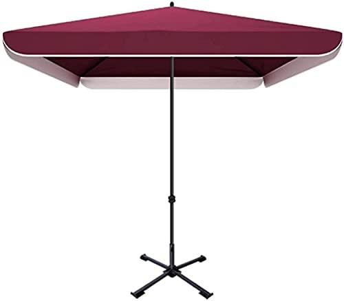 GCSQF Sombrilla de jardín Parasol Sombrillas comerciales al Aire Libre, sombrilla y sombrilla a Prueba de Lluvia con Ajuste de Cuatro Alturas GCSQF210603(Color:Pink;Size:2.2x1.8m)