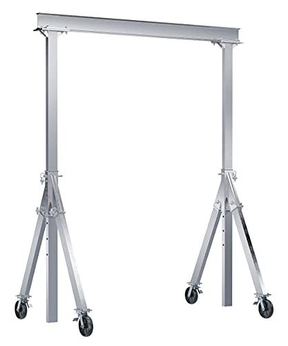Vestil AHA-4-12-10-TLC Adj Aluminum Gantry Crane 4K 12x10 TL Casters