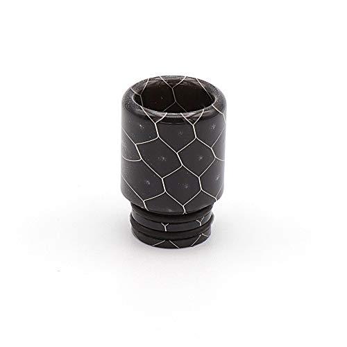 EzVapor 510 Drip Tip Schwarz Black Driptip aus Harz Material Resin 510er Drip Tip Bienenwaben Muster