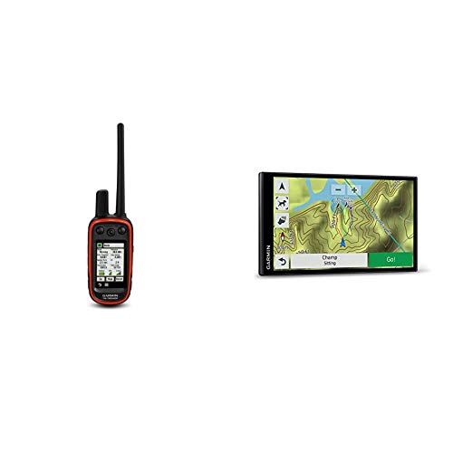 Garmin Alpha 100 GPS Track and Train Handheld Bundle with Garmin Drivetrack 71- in-Vehicle Dog Tracking and GPS Navigator, 010-01982-00