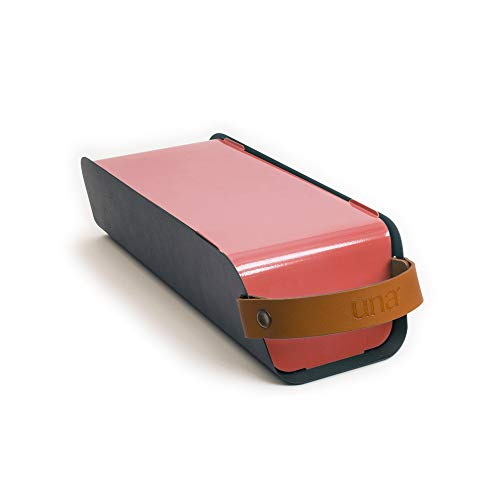 UNA Outdoor draagbare houtskool grill barbecue Slim design en compact Strawberry Red