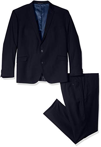 Kenneth Cole REACTION Men's Big and Tall Slim Fit Performance Suit in Extended Sizes, Navy, 60 Regular