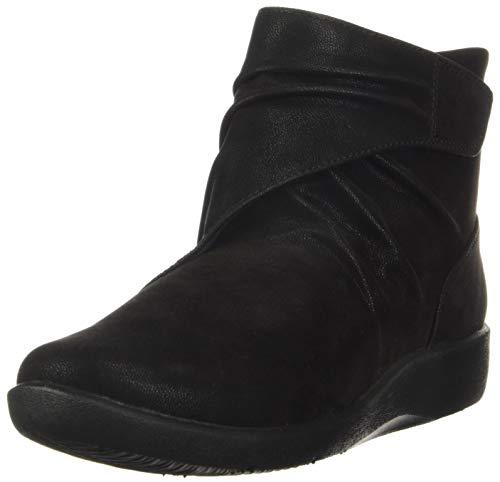 Clarks Women's Sillian Tana Fashion Boot, Black Synthetic Nubuck, 080 M US