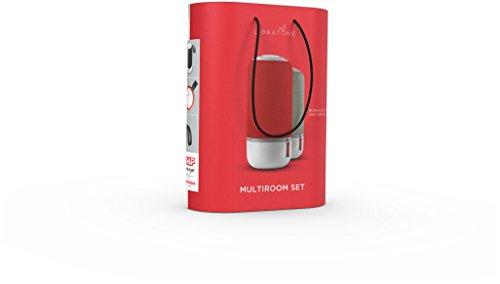 Libratone Zipp Mini 60 W Altavoz portátil estéreo Gris, Rojo - Altavoces portátiles (Neodimio, 2,54 cm, 7,62 cm, 60 W, 50-20000 Hz, Inalámbrico y alámbrico)