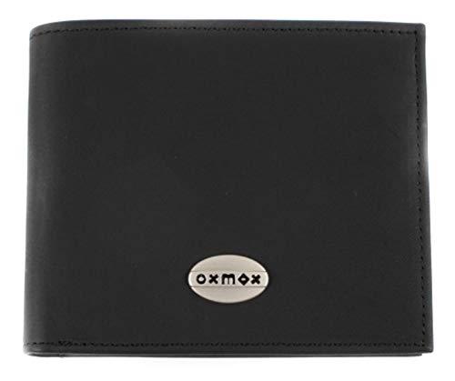 Oxmox Leather Querscheinbörse 12 cm black