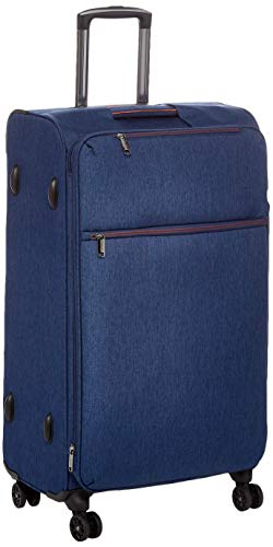 AmazonBasics Belltown, Softside Expandable Luggage Spinner Suitcase with Wheels, 31 Inch, Navy