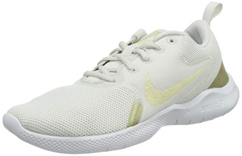 Nike Women's WMNS Flex Experience RN 10 Running Shoe, Platinum Tint MTLC Gold Star White, 8.5
