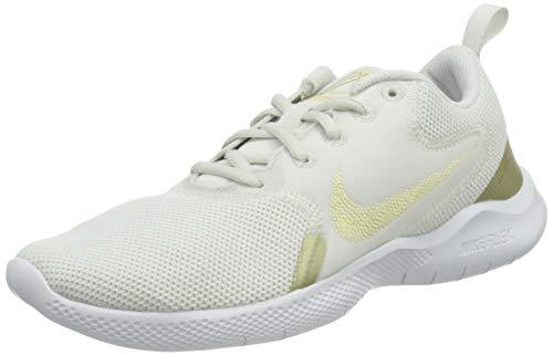 Nike Flex Experience RN 10, Running Shoe Mujer, Platinum Tint/Metallic Gold Star-White, 38 EU