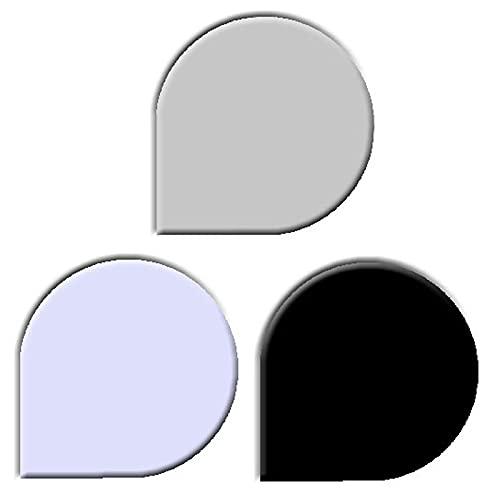 Glasbodenplatten farbig für Kaminöfen verschiedene Formen und Stärken Schwarz Tropfenform 1100x1100