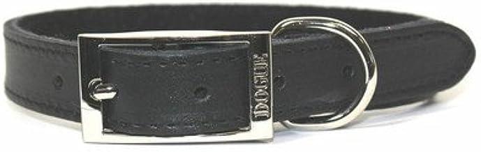 Dogue Plain Jane Leather Dog Collar, Black