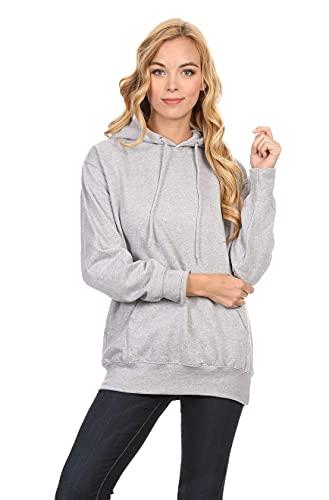 Simlu Heather Grey Hoodie, Heather Grey Sweatshirt, Heather Grey Pullover Hoodie, Heather Grey, Medium