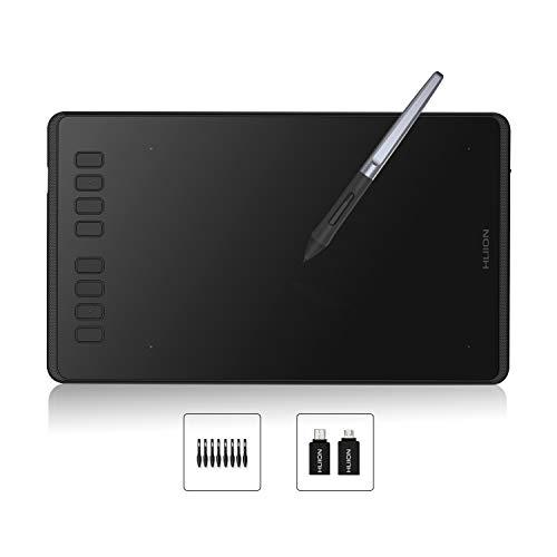 Huion Inspiroy H950P Grafiktablett 8 benutzerdefinierbare ExpressKeys mit batterielosem digitalen Stift Kann Tilt-Funktion aktualisieren