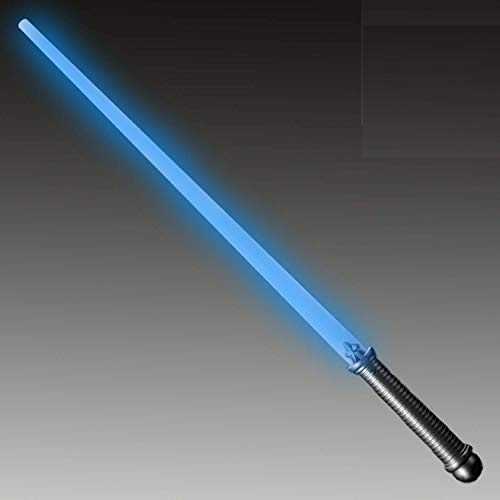 Lumistick LED Light Saber Sword | Lightsaber Glowing Swords Realistic Toy Expandable Spinning Ball (Blue, 1 Sword)