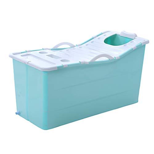 CYLQ Opvouwbare badkuip voor volwassenen voor douchecabine babybadkuip vouwbaar badkuip volwassenen grote opvouwbare plastic badkuip kinderzwembad zwembad blauw/roze 117 x 52,5 x 63 cm