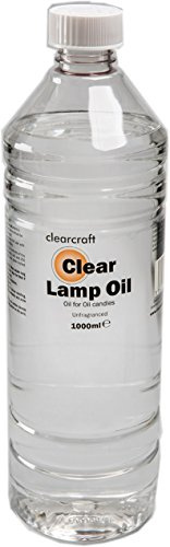 CLEARCRAFT SMOKELESS AND ODOURLESS CLEAR LAMP OIL - 1 LITRE - with FREE funnel