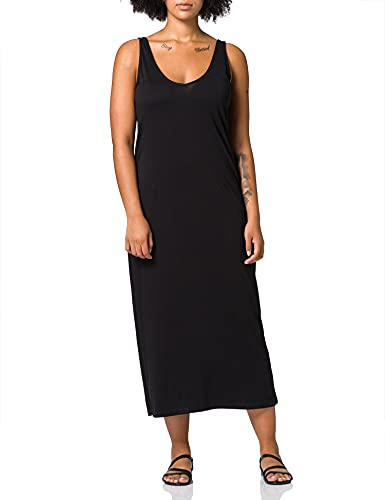 ONLY Carmakoma CARAPRIL Life SL V-Neck Maxi Dress Vestido, Negro, L para Mujer