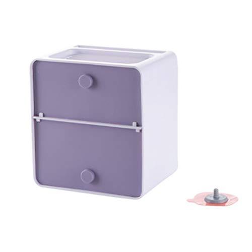Boîte en papier Boîte À Mouchoirs, Porte-papier Hygiénique Imperméable À L'eau Sans Poêle (Couleur : Bleu)