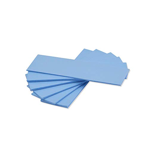 A ADWITS [ 6-Pack ] Thermal Conductive Silicone Pads, Soft Safe Simple to Apply for SSD CPU GPU LED IC Chipset Cooling -Blue