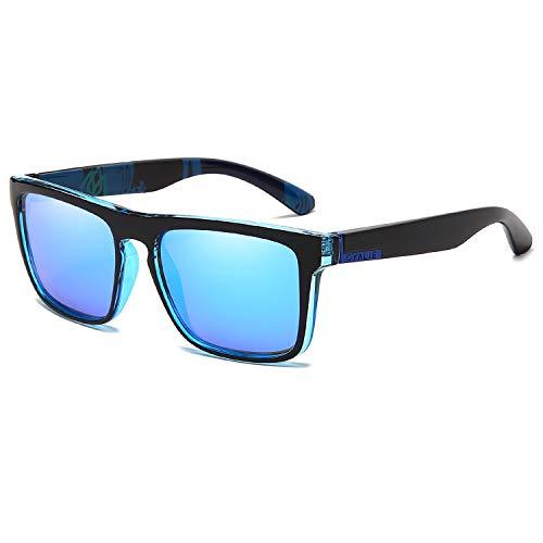OYALIE Gafas de sol polarizadas para hombres y mujeres al aire libre, pesca, conducción cuadrada G209, Azul, Frame Width: 146 mm