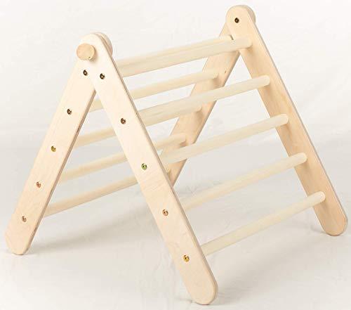 Kletterling Triángulo de escalada de 60 cm, altura regulable según triángulo pikler, de madera de abedul, triángulo de escalada, para niños y bebés, juguete a partir de 10 meses