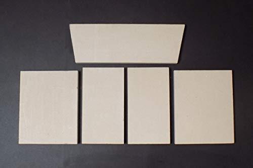 Feuerraumauskleidung B für BK Ofenbau Luxor 1 Kaminöfen - Vermiculite - 5-teilig