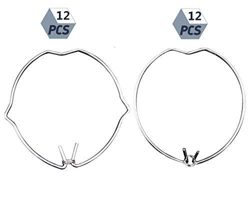 beihuazi® 24Stk Haltefeder Ring sprengring einbaustrahler 45mm für MR16 Spot Einbauleuchte