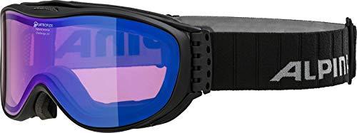 ALPINA CHALLENGE 2.0 Skibrille, Unisex– Erwachsene, black mat, one size