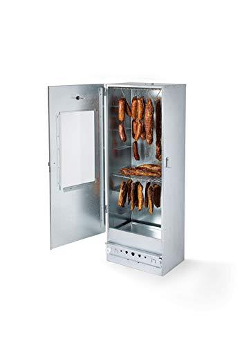 KAISER COMPANY '100' Hochwertige Räucherei/Raucher aus verzinktem Blech - Holzofen I Tragbare Räucherei 110 cm I Perfekt zum Räuchern I Bis zu 15 kg Fleisch mit Zubehör
