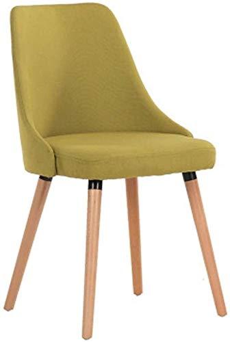 CSD Massivholz-Dining Chair, Einfacher Lässige Hotel Desk Stuhl, Haupt Cafe Rückenlehne Hocker (Color : Green, Size : 46x44x85CM)