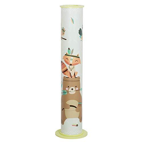 Elobra Little Indians vloerlamp voor kinderen, hout, 40 W, lime groen