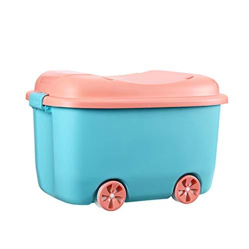 C-J-Xin Boîte de rangement for enfant, boîte de rangement for jouets Snack Maternelle Chambre d'enfant for boîte de rangement for chambre à coucher Voiture forme poulie boucle Rangement et organisatio