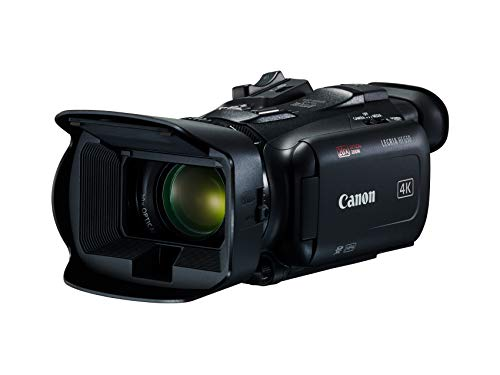Canon LEGRIA HF G50 Camcorder (4K, Lichtstärke F1.8 – 2.8, Bildstabilisator, klappbarer elektronischer Sucher, 3-Zoll-Touchscreen-LCD, Zeitlupe / Zeitraffer, Integrierter ND-Filter), schwarz