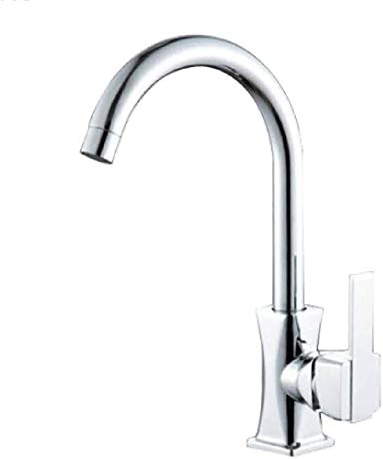 Counter Drinking Designer Arch redating Cold-Hot Dual-Purpose Single-Hole Faucet Kitchen Ceramic Disc Spool Faucet