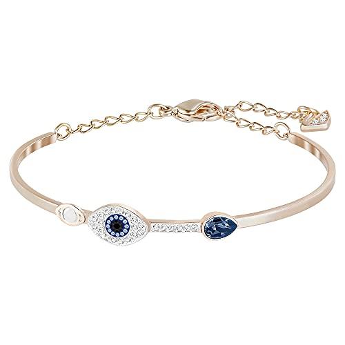 Swarovski Brazalete Swarovski Symbolic Evil Eye, azul, Combinación de acabados metálicos