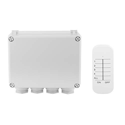 Smartwares Funk-Schaltkasten - Plug & Connect, für Outdoor Geräte, 3-Kanal Fernbedienung, SH4-99652