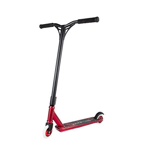 XLOO Pro Stunt Scooter Scooters de Truco completos Scooters de Patada de Estilo Libre de Aluminio para Principiantes para niños de 8 años en adelante, (Azul Rojo)